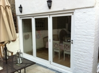 Garden bi-folding door in Fulham SW6