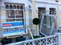 Fulham box sash windows